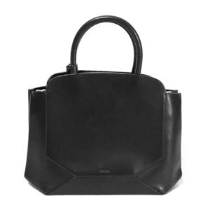 Auxiliary Black Leather Convertible Shoulder Bag